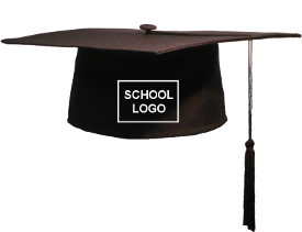 Bestel Square Caps met schoollogo